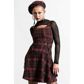 ženska obleka KILLSTAR - Crash Skater - Blood Tartan, KILLSTAR