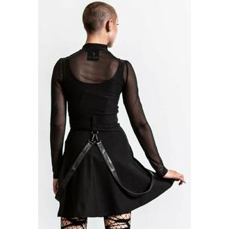 ženska obleka KILLSTAR - Crash Skater - Črna, KILLSTAR