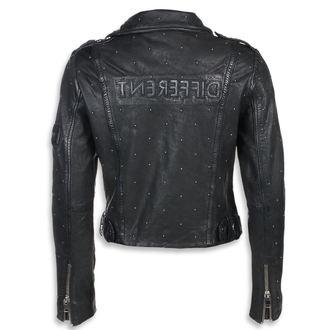Ženska usnjena jakna - Črna - NNM