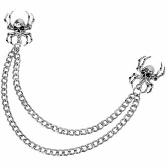 Verižna priponka KILLSTAR - Deadly Collar - Srebrno, KILLSTAR