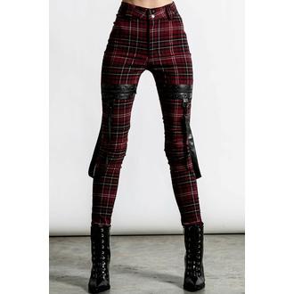 ženske hlače KILLSTAR - Dead Resistance - Oprijete kavbojke - Krvavi tartan, KILLSTAR