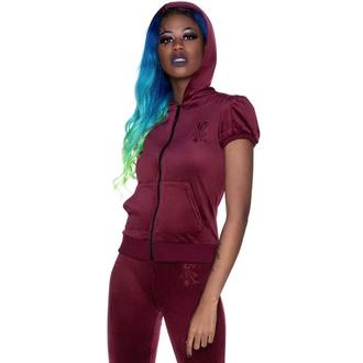 Ženska majica KILLSTAR - Dee-Lux Velvet - Bordo - KSRA003461