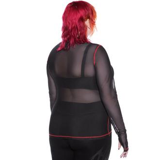 Ženska majica z dolgimi rokavi KILLSTAR - Departed Mesh - Črna, KILLSTAR