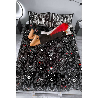 Odeja (posteljno pregrinjalo) KILLSTAR - Devil Details - Črna, KILLSTAR