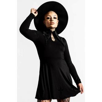 Ženska obleka KILLSTAR - Elissabat Collar - Črna, KILLSTAR