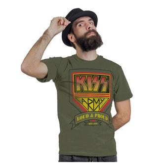 majica kovinski moški Kiss - ARMY Distressed Logo - HYBRIS, HYBRIS, Kiss