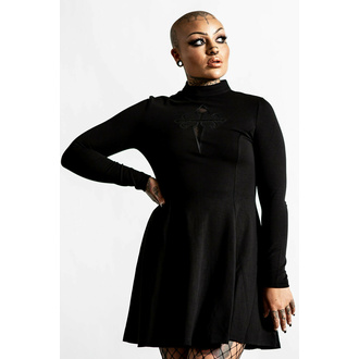 Ženska obleka KILLSTAR - Evanna Cross - Črna, KILLSTAR