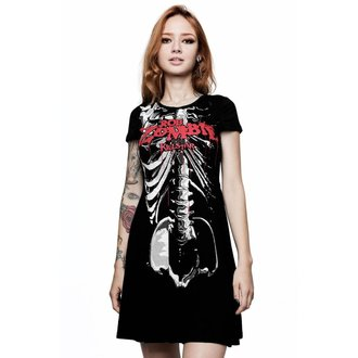 Ženska obleka KILLSTAR - Rob Zombie - Foxy Bones Skater - ČRNA, KILLSTAR, Rob Zombie