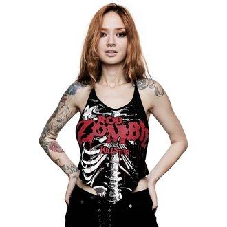 Ženski top KILLSTAR - ROB ZOMBIE - Foxy Bones Rocker - ČRNA, KILLSTAR, Rob Zombie