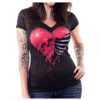 Ženska hardcore majica - ANGEL RIBCAGE HEART - LETHAL THREAT, LETHAL THREAT
