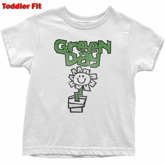 Otroška majica Green Day - Flower - WHT - ROCK OFF, ROCK OFF, Green Day