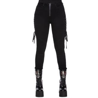 Ženske hlače KILLSTAR - Get Laced Skinny Jeans, KILLSTAR