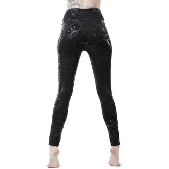 Ženske Leggings KILLSTAR - GRAVE - BLACK, KILLSTAR