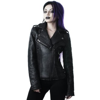 Usnjena ženska jakna - Graveyard Shift Biker - KILLSTAR, KILLSTAR