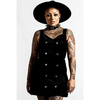 Ženska obleka KILLSTAR - Griselda Corduroy - Črna, KILLSTAR