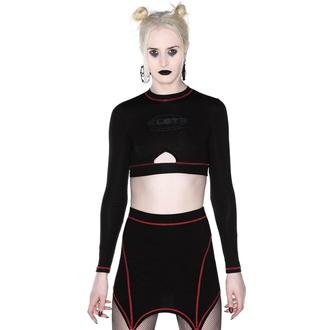 Kratka ženska majica z dolgimi rokavi (crop top) KILLSTAR - Hacker, KILLSTAR