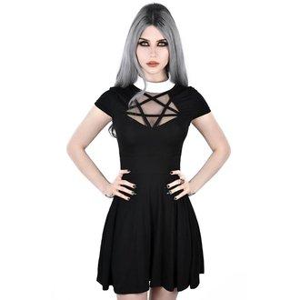 Ženska obleka KILLSTAR - HADES SKATER - BLACK, KILLSTAR