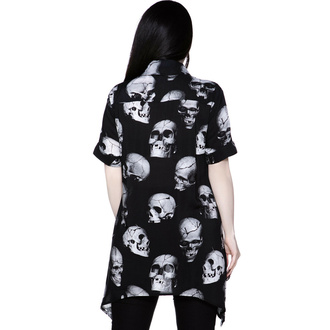Ženska majica KILLSTAR - Headache Button-Up - Črna, KILLSTAR