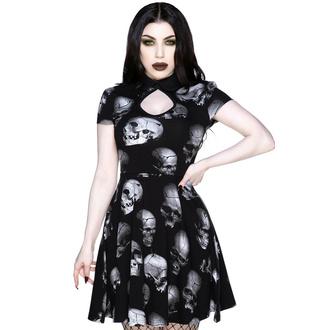 Ženska obleka KILLSTAR - Headspin Collar - Črna, KILLSTAR
