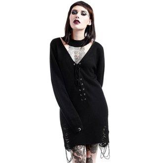 pulover ženske KILLSTAR - Hell In Harlow Distress Knit - Črno, KILLSTAR