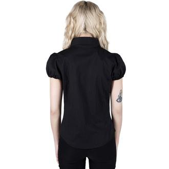 Ženska majica KILLSTAR - Hellstar Lace-Up - Črna, KILLSTAR