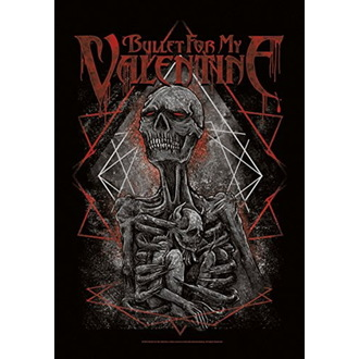 Zastava Bullet For my Valentine - Skeleton, HEART ROCK, Bullet For my Valentine