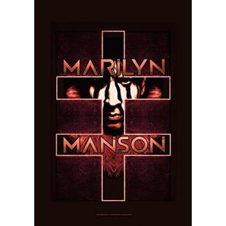Zastava Marilyn Manson - Double Cross, HEART ROCK, Marilyn Manson