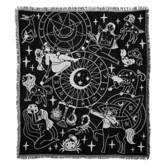 Odeja (posteljno pregrinjalo) KILLSTAR - Horoscope - Črna, KILLSTAR