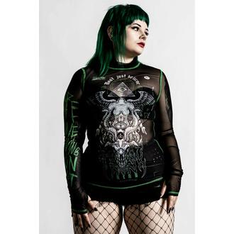 Ženska majica z dolgimi rokavi KILLSTAR - Illuminated Mesh - Črna, KILLSTAR