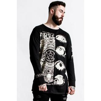 Moška majica z dolgimi rokavi KILLSTAR - Insomnia Longline Split- Top - Črna, KILLSTAR