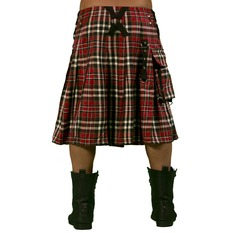 Moški Kilt DEAD THREADS - Red Tartan, DEAD THREADS