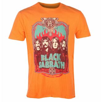 moška majica BLACK SABBATH - FLAMES - ORANGE CRUSH - AMPLIFIED, AMPLIFIED, Black Sabbath