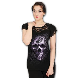 Ženska majica - LACE SKULL - SPIRAL, SPIRAL