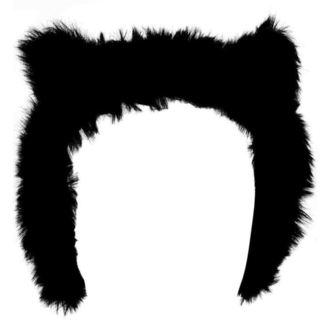 Earmuffs KILLSTAR - Le Chat Noir Ear Muffs - Črno, KILLSTAR