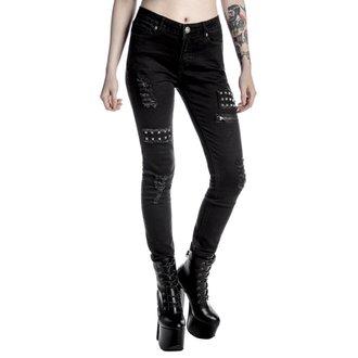 hlače ženske KILLSTAR - Lithium - Črno, KILLSTAR