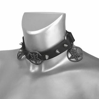 Tridelna Ovratnica Pentagram Sacrifice, Leather & Steel Fashion