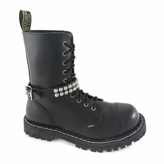 Opasnica za škorenj Leather boot strap with rivets, Leather & Steel Fashion