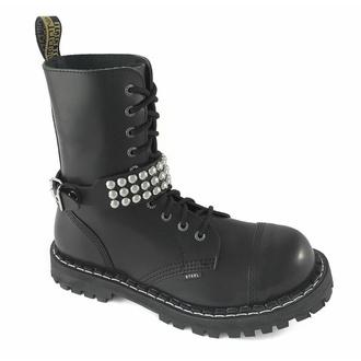 Opasnica za škorenj usnjena s kovico - bubble 3, Leather & Steel Fashion
