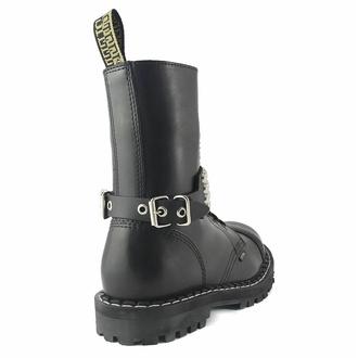 Ovratnica (ali opasnica za škorenj) s kovico - mehurček 4, Leather & Steel Fashion