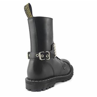Opasnica za škornje Usnjena Leather boot strap with rivets - bubble 5, Leather & Steel Fashion