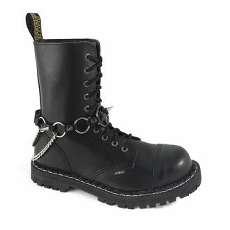 Opasnica za škornje Baphomet rings Boot Strap, Leather & Steel Fashion
