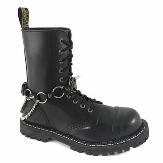 Opasnica za škorenj Inverted Cross rings Boot Strap, Leather & Steel Fashion