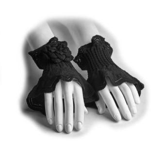 Rokavice brez prstov/ Zapestni grelniki PUNK RAVE - Rosette, PUNK RAVE