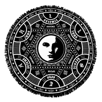 Odeja KILLSTAR - Lunar Spell Round, KILLSTAR