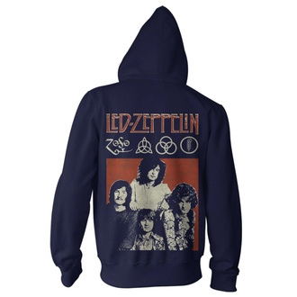 Moški hoodie Led Zeppelin - Photo Navy, NNM, Led Zeppelin