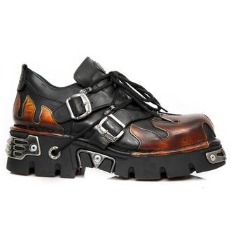 Moški Usnjeni čevlji - ITALI NEGRO, PULIK FUEGO - NEW ROCK, NEW ROCK