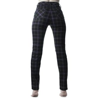 Ženske hlače KILLSTAR - Mazzy Lace-Up - TARTAN, KILLSTAR