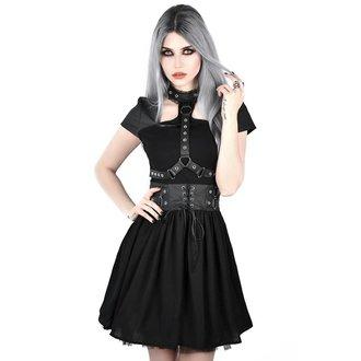 Ženska obleka KILLSTAR - MIDNIGHT MUSE HARNESS - BLACK, KILLSTAR