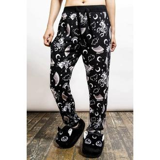 Ženske hlače (pižama) KILLSTAR - Moonbow Lounge - Črna, KILLSTAR