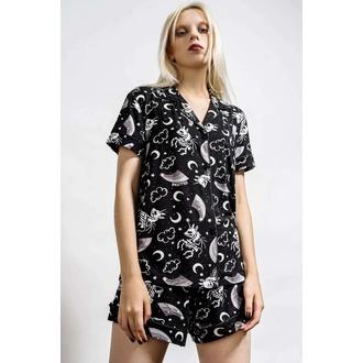 ženska pižama (komplet) KILLSTAR - Moonbow - Črna, KILLSTAR